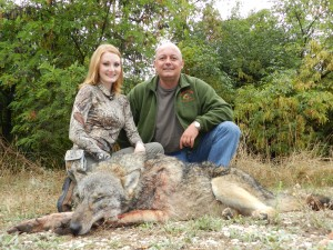 Brittany Boddington and her wolf